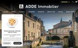 screenshot http://www.adde-immo.com agence immobilière bayeux , calvados