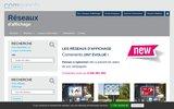 screenshot http://www.affichage-comevents.fr Réseaux d'affichage