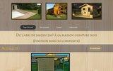 screenshot http://www.afpmenuiserie.fr artisan fabriquant poseur de menuiseries - chalet, terrasses, abris bois, pergolas, cabane, kiosque