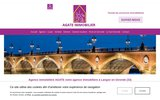 screenshot http://www.agate-immobilier.com agate agence immobiliere langon sud gironde