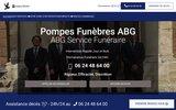 screenshot http://www.agencefuneraire.com Forfait obsèques 2000€ tout compris 0624486400 jour et nuit