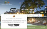 screenshot http://www.agencelesoliviers.fr Agence immobiliere Montpellier