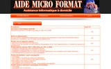 screenshot http://www.aide-micro.fr aide micro format