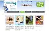 screenshot http://www.aideadomicile94.net Aide à domicile 94