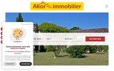 screenshot http://www.akor-immobilier.fr vente appartement sommières