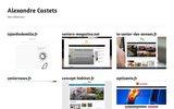 screenshot http://www.alexandre-castets.fr/ création site web et logo sur pau et le béarn 64]