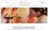 screenshot http://www.amesauvage.com/ Artiste peintre moderne
