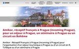 screenshot http://www.amikor.cz voyage à Prague séjour à Prague