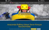 screenshot http://www.anacondarafting.com rafting chez anacondarafting canoe kayak hydrospee