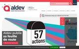 screenshot http://www.angers-developpement.com/ immobilier dédiés aux entreprises