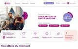 screenshot http://www.apreva.fr mutuelle apreva