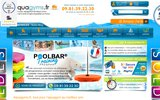 screenshot http://www.aquagyms.fr vente en ligne de matériels d'aquagyms