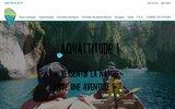 screenshot http://www.aquattitude.com/ aquattitude, canoe kayak rafting gorges verdon