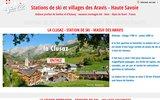 screenshot http://www.aravis-haute-savoie.fr station de ski haute savoie