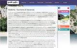 screenshot http://www.ardeche.guideweb.com guide du tourisme et des vacances en ardèche