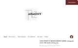 screenshot http://www.armony-cuisine.fr/ meubles design à l'italienne