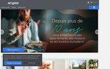 screenshot http://www.artgeist.fr choix de tableaux de peinture, boutique artgeist