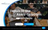 screenshot http://www.assis-telecom.com/ télésecrétariat, permanence téléphonique à béziers