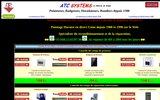 screenshot http://www.atc-systems.fr atc systems, vente de pointeuse depuis 1988