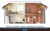 screenshot http://www.ateliers-plombier-creteil.fr/ plombier à Créteil