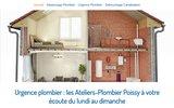 screenshot http://www.ateliers-plombier-poissy.fr/ plombier à Poissy