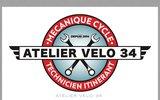 screenshot http://www.ateliervelo34.fr réparations de vélo à domicile