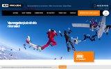 screenshot http://www.atlasparachutisme.com parachutisme : saut en parachute tandem