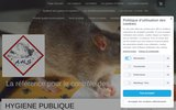 screenshot http://www.aureliehabitatservice.com dératisation, désinsectisation, désinfection,vente insecticide, souricide et raticide.