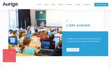 screenshot http://www.auriga.fr/ auriga - erp progiciels de gestion pour etablissements de formation continue et initiale