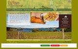screenshot http://www.aux-berges-pareloup.com hôtel  restaurant, aux berges de pareloup en l