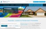 screenshot http://www.auxandra.com Acheter un bien immobilier en Floride