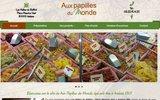 screenshot http://www.auxpapillesdumonde.fr/ vente de produits du terroir et spécialités étrangères