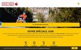 screenshot http://www.aventuresnouvellefrance.com motoneige qu�bec