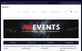 screenshot http://www.axevents.fr Axevents - Le point central de vos événements