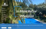 screenshot http://www.bache-piscine.fr acheloos, bache piscine et couverture piscine