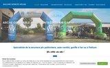 screenshot http://www.ballons-gonfles-helium.com frog agency - vente de ballons publicitaires sur mesure