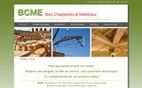 screenshot http://www.bcme-charpente.com négoce de bois, charpente b.c.m.e