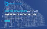 screenshot http://www.beaussier.fr avocat spécialiste en droit immobilier - montpellier - construction, copropriété,