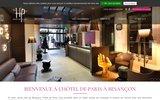 screenshot http://www.besanconhoteldeparis.com/ Hôtel de Paris à Besançon