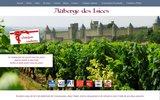 screenshot http://www.blasco.fr auberge des lices et la taverne du château à carcassonne