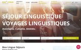 screenshot http://www.boalingua.fr boa lingua s�jours linguistiques
