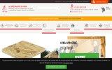 screenshot http://www.bois-et-parquets.com negoce de bois