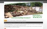 screenshot http://www.boischauffage-bruneau.fr Bois de chauffage près de Caussade et Montauban Tarn et Garonne