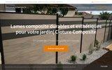 screenshot http://www.boisliquide.com Terrasse, Clôture et Bardage en bois composite