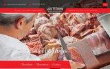 screenshot http://www.boucherielestitans.com Boucherie Les Titans