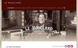 screenshot http://www.bouclard.com restaurant parisien à montmartre-le bouclard