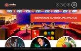 screenshot http://www.bowlingpalace.fr Bowling billard restaurant bar discothèque entre Strasbourg et Sélestat