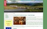 screenshot http://www.burondelacombedelasaure.com buron de la combe de la saure - cantal auvergne