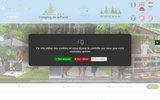 screenshot http://www.camping-dela-foret.com camping