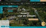 screenshot http://www.camping-les-plans.fr/ camping les plans : camping caravaning